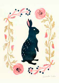 Inspiration of illustrated rabbit