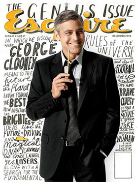 Inspiration of lettering Esquire cover